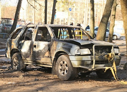 Взрыв автомобиля на улице Космонавтов