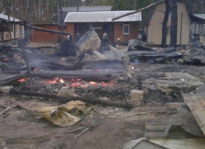 Крупнейший пожар на Харьковщине: пылающий лесхоз тушили пять часов (ФОТО)