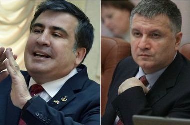 В Сети появилось видео скандала Авакова и Саакашвили (ВИДЕО)