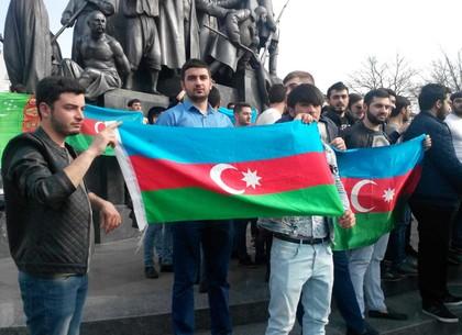 В Харькове азербайджанцы вышли на митинг