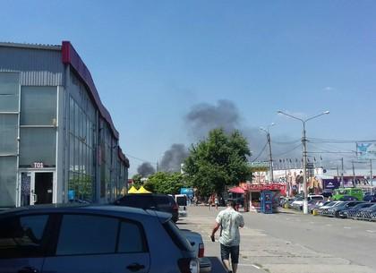 В районе ТЦ «Барабашово» - пожар (ФОТО)