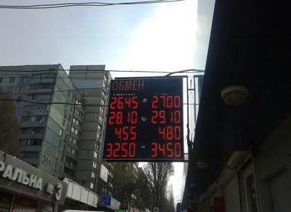 Наличные и безналичные курсы валют в Харькове на 4 апреля