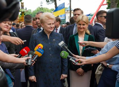 Дни литовской культуры в парке Горького открыла глава Республики Литва