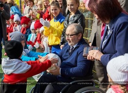 Геннадий Кернес открыл детский стадион в Индустриальном районе (ФОТО)
