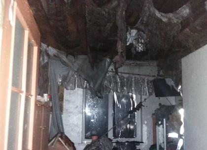 На Харьковщине из-за печи вспыхнул дом