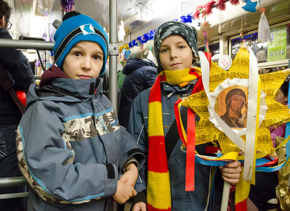 «Рождественский трамвай» в Харькове