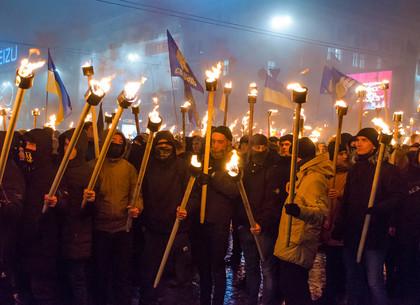 Факельное шествие в Харькове