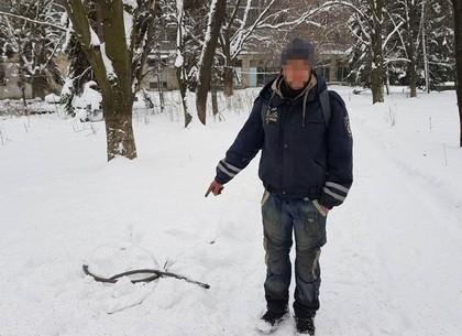 В Харькове поймали кабельного вора (ФОТО)