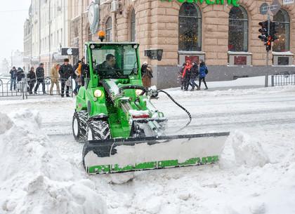 Сильный снегопад в Харькове