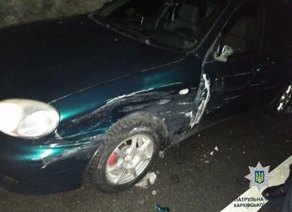 На Салтовке припаркованный Lanos попал в ДТП