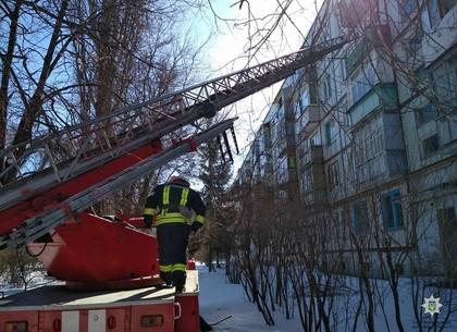 Спасатели по автолестнице залезли в квартиру пожилой харьковчанки