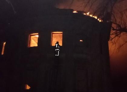 На Харьковщине горит бывший ветеринарный техникум