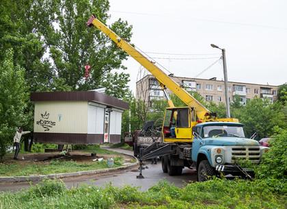 В Харькове демонтировали очередную незаконную «наливайку»