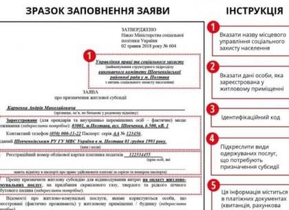 Изменились формы заявления и декларации о доходах для назначения субсидий (ФОТО)