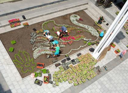 Перед ХНАТОБом создают цветочную композицию «Лебединая верность»