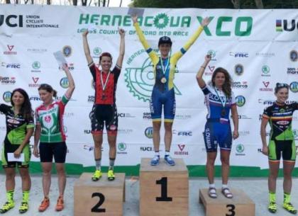 Харьковская велосипедистка - чемпионка международного турнира
