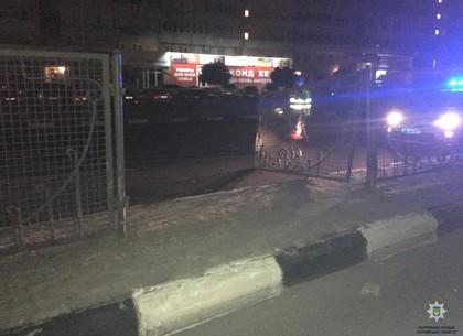 Пьяный водитель снес разделительное ограждение на проспекте Гагарина