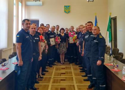 В Индустриальном районе поздравили спасателей (ФОТО)