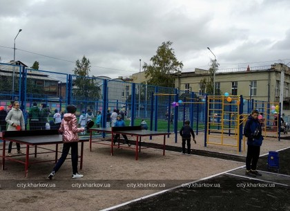Еще два новых стадиона открыли в харьковских школах (ФОТО)