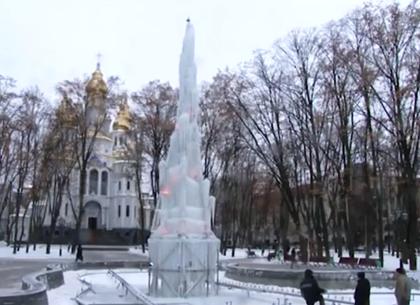 Ледяной фонтан на Зеркальной струе засияет всеми цветами радуги