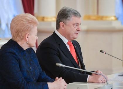 Президенты Украины и Литвы: Против России должны быть введены новые жесткие санкции