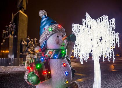 Вечерний Харьков перед Новым годом (ФОТО)