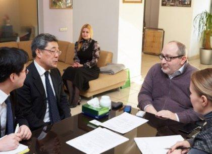Геннадий Кернес обсудил визит посла Японии к сезону цветения сакур