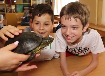 Питомцы Харьковского зоопарка побывали в гостях у школьников (ВИДЕО)