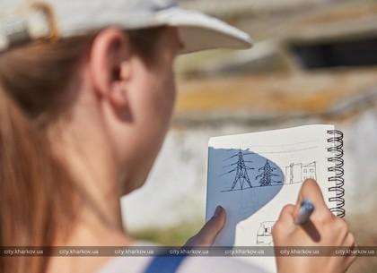 Художники проекта «Urban sketchers» рисуют харьковские предприятия