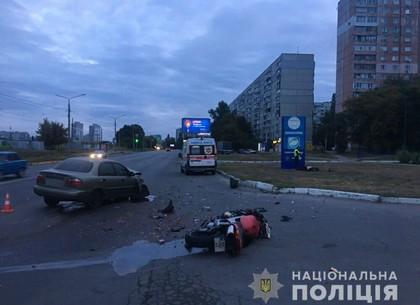 Смертельное ДТП: на Салтовке погиб мотоциклист (ФОТО)