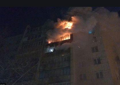 Спасатели побороли полуночный пожар в салтовской  девятиэтажке (ФОТО)