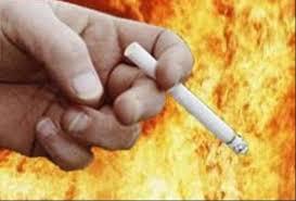 Под Харьковом от неосторожного курения опять сгорел дом