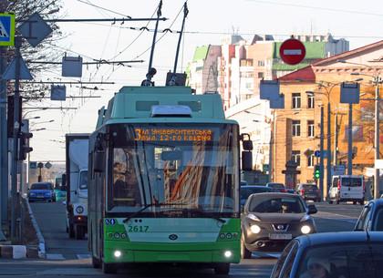 После утреннего часа пик троллейбусы на ХТЗ изменят маршрут