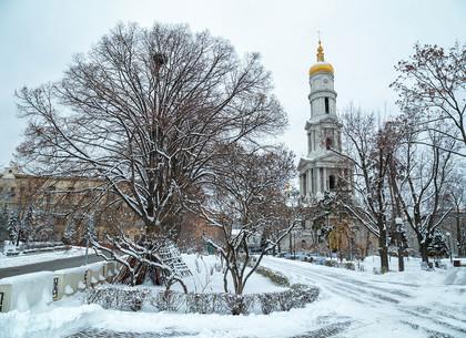 Первый снежный день в Харькове (ФОТО)