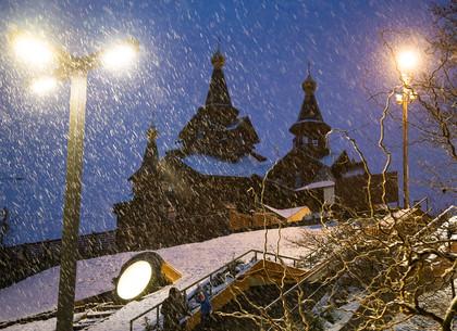Вечерний снегопад в Саржином яру, Харьков (ФОТО)