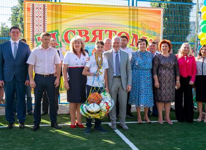 Игорь Терехов открыл в двух школах новые стадионы (ФОТО)