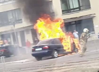 Пожар на Сумской: вспыхнула машина (Telegram)