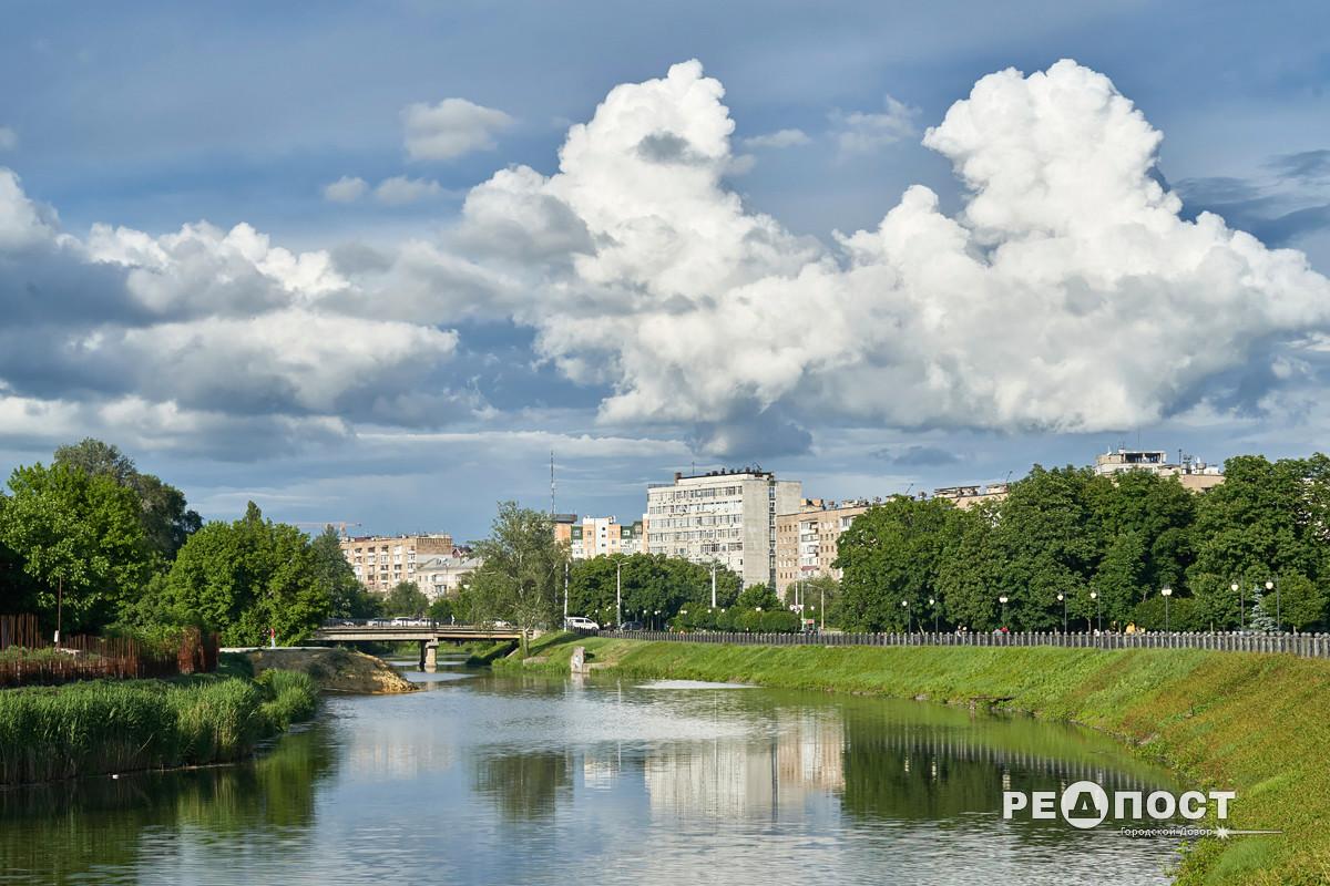 Харьков, река, облака