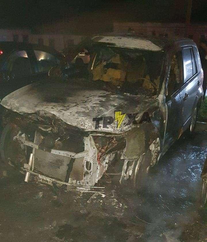 В Харькове ночью горели автомобили