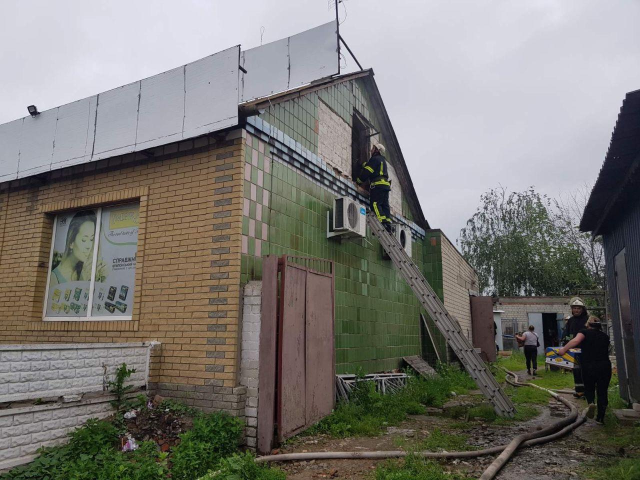 Под Харьковом горел продуктовый магазин