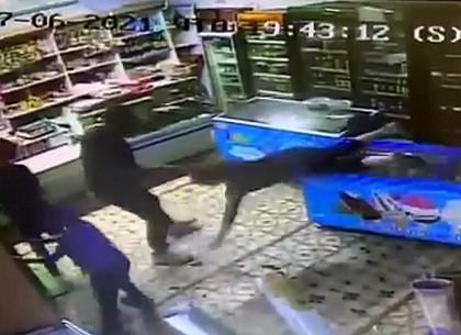 Дебош в магазине: в Харькове избита продавец и устроен погром (ВИДЕО)