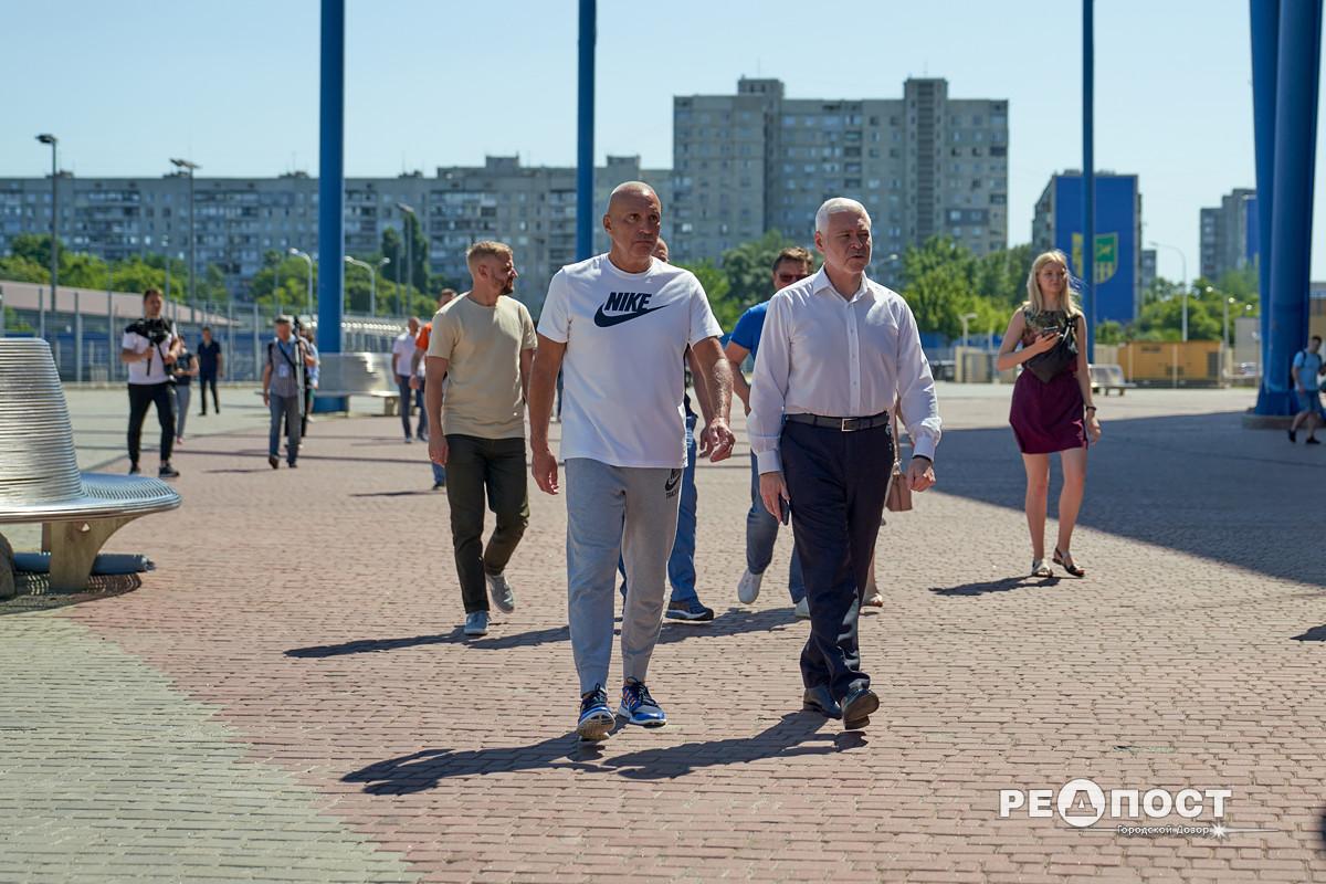 Терехов и Ярославский посетили стадион Металлист в Харькове