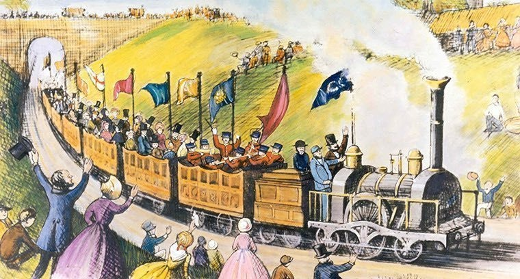 Томас Кук организовал первую в мире групповую туристическую поездку.