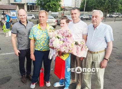 В Харькове встретили Камилу Конотоп, которая вернулась с Олимпиады-2020
