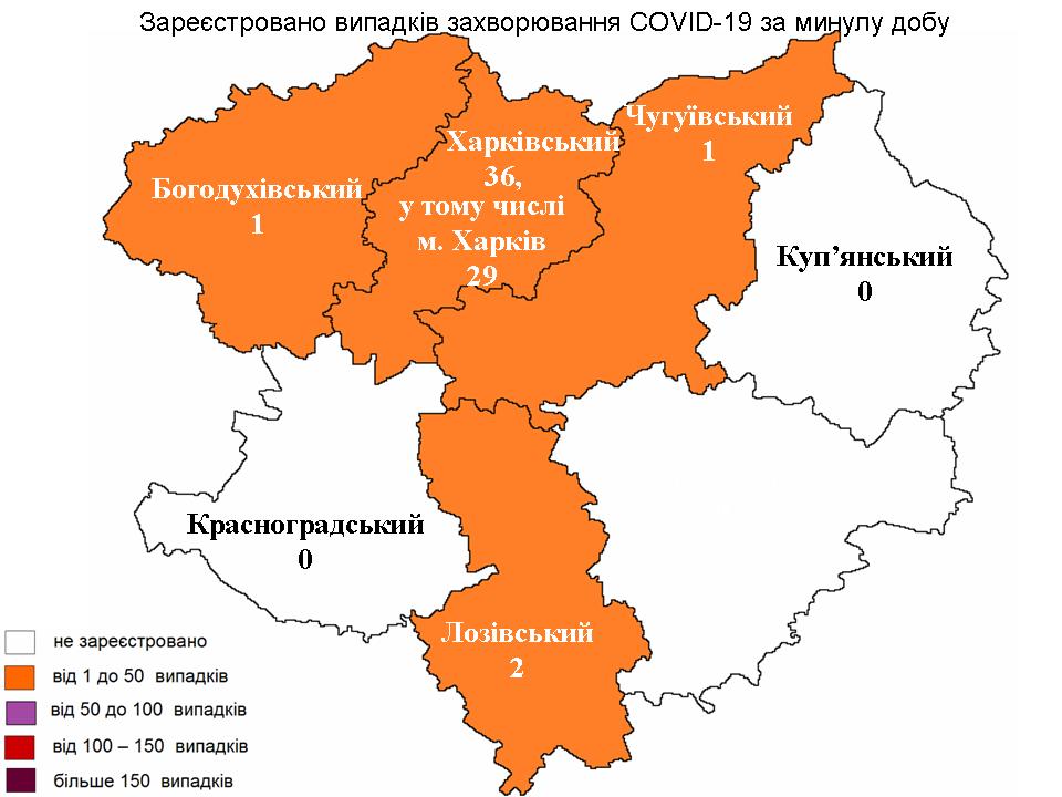За сутки 31 июля в Харьковской области лабораторно зарегистрированы новые случаи заражения коронавирусом.