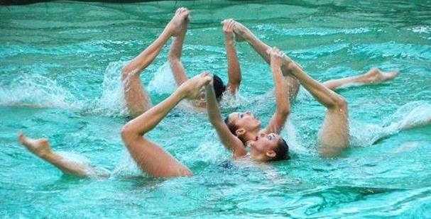 Харьковская команда по синхронному плаванию