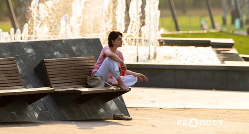 Парк Победы в Харькове в последний день лета