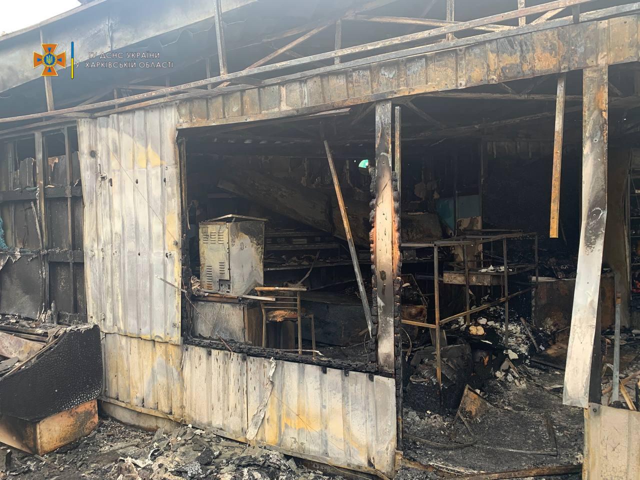 В Харькове горели торговые ряды