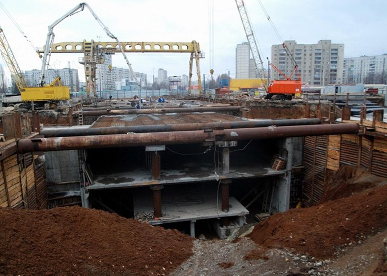 Строительство станции метро в Харькове